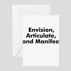 Envision, Articulate, and Man Greeting Cards (Pk o