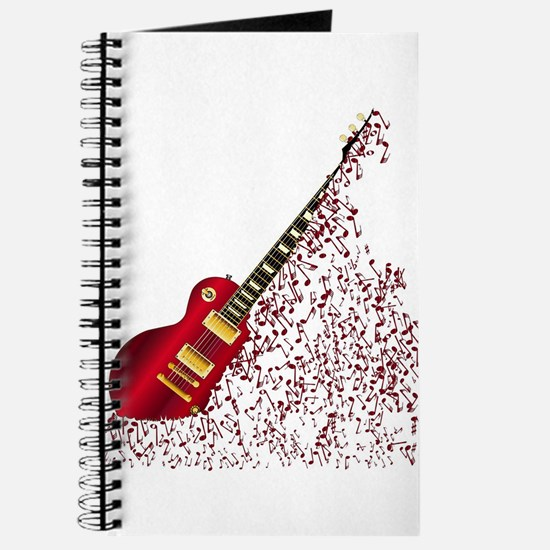 Musical Notes Fragmenting Guitar Journal