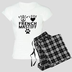 Peace Love French Mastiff Pajamas