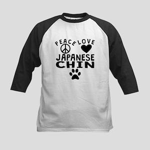 Peace Love Japanese Chin Baseball Jersey