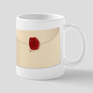 Isolated Wax Sealed Envelope Mugs
