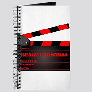 Red Christmas Clapper Board Journal