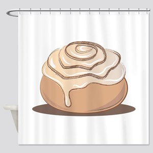 Cinnamon Bun Shower Curtain