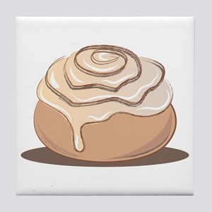 Cinnamon Bun Tile Coaster