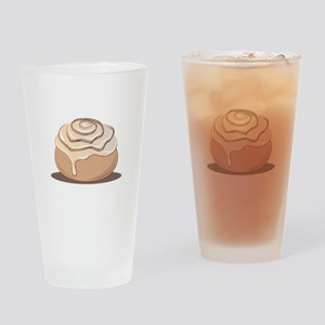 Cinnamon Bun Drinking Glass