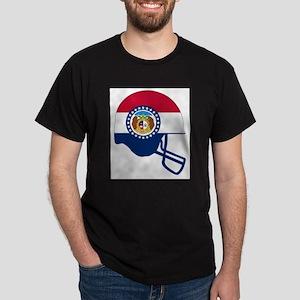 Missouri State Flag Football Helmet T-Shirt