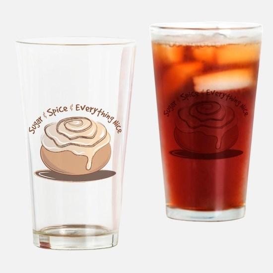 Sugar & Spice Drinking Glass