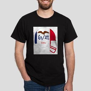 Iowa State Flag Football Helmet T-Shirt