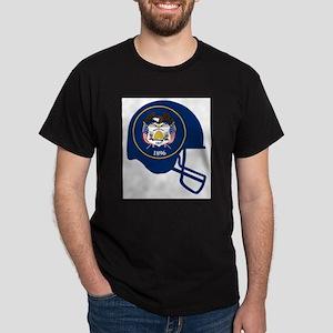 Utah State Flag Football Helmet T-Shirt
