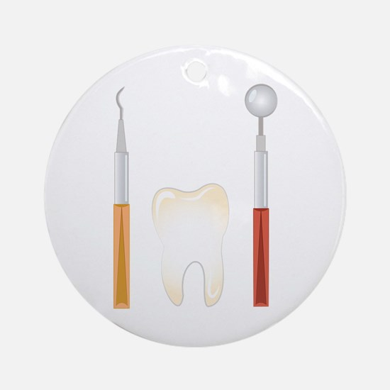 Dentist Tools Round Ornament