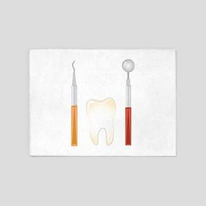 Dentist Tools 5'x7'Area Rug
