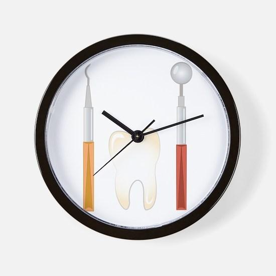 Dentist Tools Wall Clock