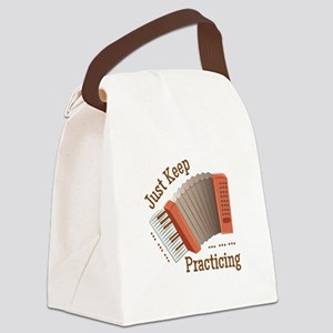 Keep Practicing Canvas Lunch Bag