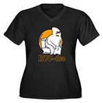 BOO-doo Women's Plus Size V-Neck Dark T-Shirt