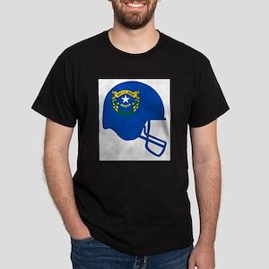 Nevada State Flag Football Helmet T-Shirt