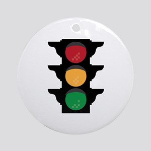 Traffic Light Round Ornament