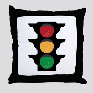 Traffic Light Throw Pillow