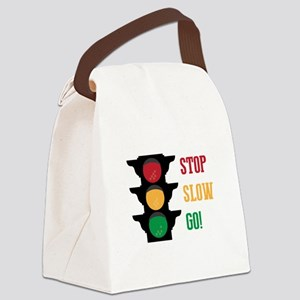 Stop Slow Go Canvas Lunch Bag
