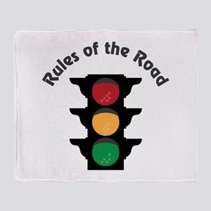 Rules Of Road Throw Blanket