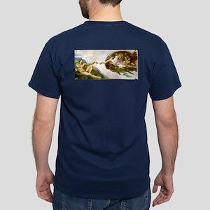 The Creation of Adam by Michaelangelo Dark T-Shirt