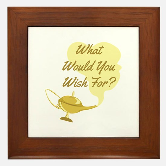 What You Wish Framed Tile