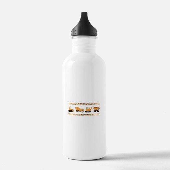 Big Truck Border Water Bottle