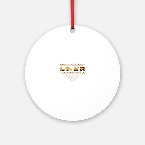 Trucks & Toys Round Ornament