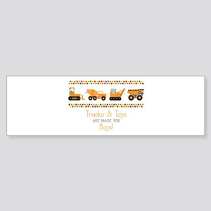 Trucks & Toys Bumper Sticker