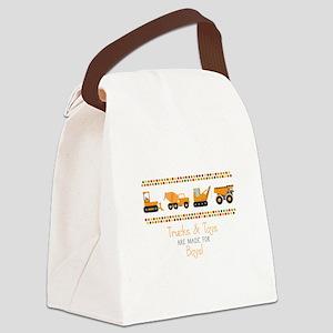 Trucks & Toys Canvas Lunch Bag
