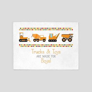 Trucks & Toys 5'x7'Area Rug