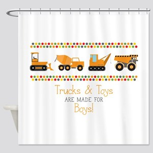 Trucks & Toys Shower Curtain