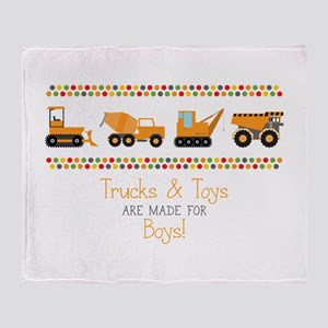 Trucks & Toys Throw Blanket