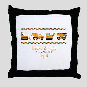 Trucks & Toys Throw Pillow