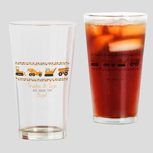 Trucks & Toys Drinking Glass