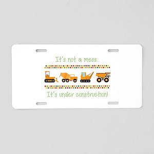 Under Construction Aluminum License Plate