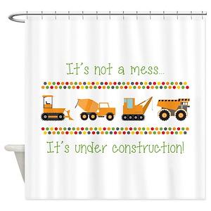 Bulldozer Shower Curtains