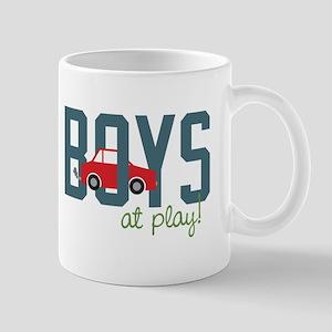 Boys At Play Mugs