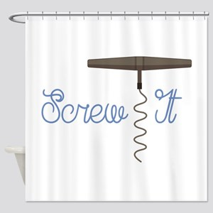 Screw It Shower Curtain