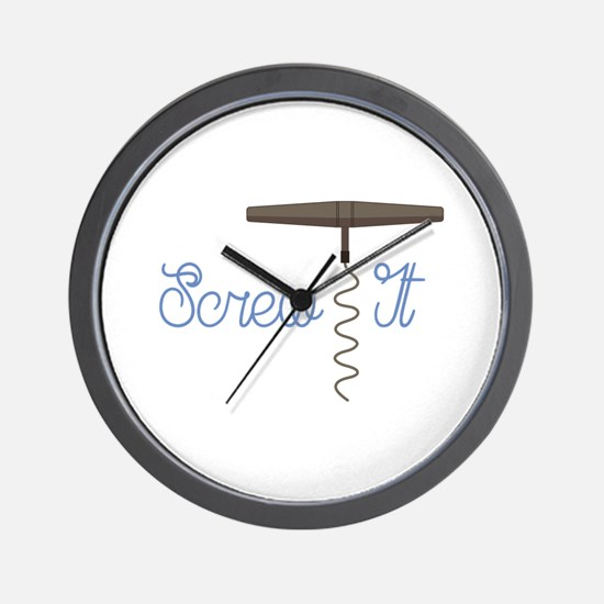 Screw It Wall Clock