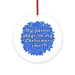 Ripped Up Parrot Christmas Ornament (Big Beak)
