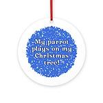 Ripped Up Parrot Christmas Ornament (Little Beak)