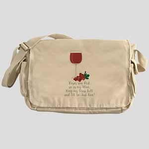 Keep Glass Full Messenger Bag