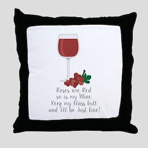Keep Glass Full Throw Pillow