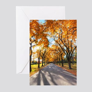 Autumn Road Greeting Cards