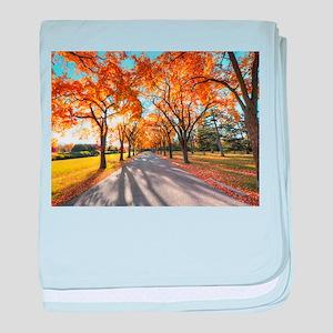 Autumn Road baby blanket