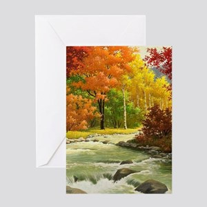 Landscape greeting cards cafepress autumn landscape greeting cards m4hsunfo