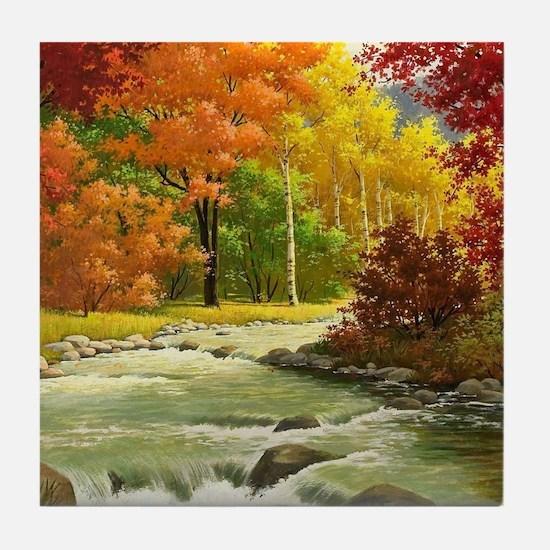 Autumn Landscape Tile Coaster