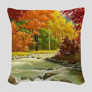 Autumn Landscape Woven Throw Pillow