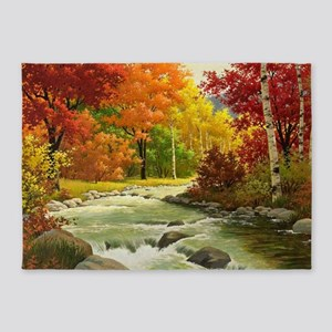 Autumn Landscape 5'x7'Area Rug