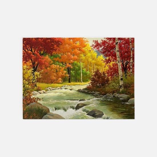 Autumn Landscape 5'x7'Area Rug